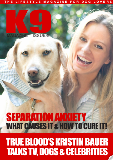 kristin bauer k9 magazine Dog Lover Kristin Bauer Announces Support of Collars Not Cruelty Campaign